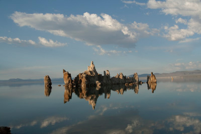 Reflected water picture of tufa